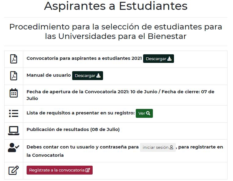 requisitos aspirantes UBBJ