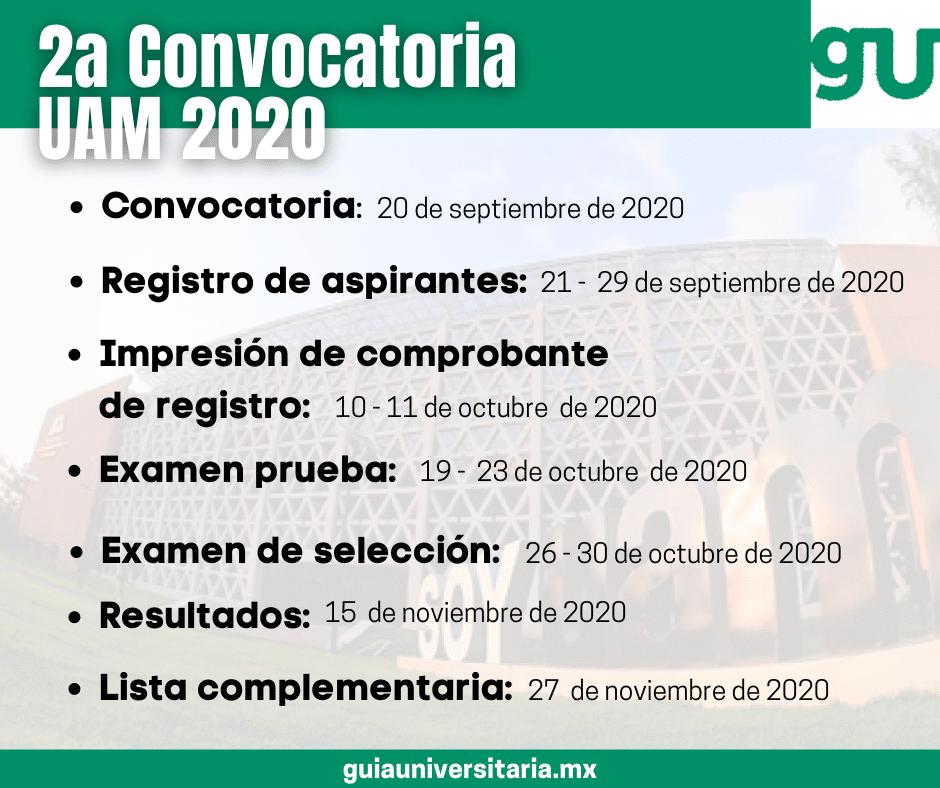 Segundo proceso de selección para ingresar a licenciatura en el trimestre 2020 otoño