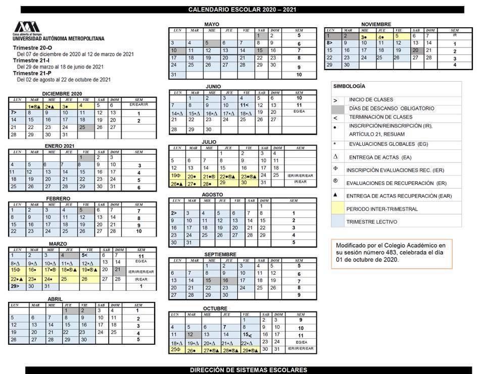 calendario uam 2020-2021